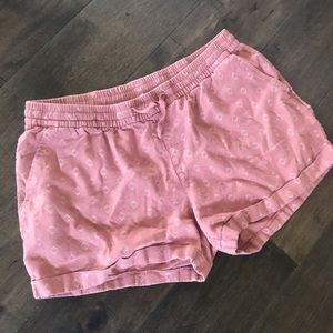 Old navy pull on linen blend pink rose shorts